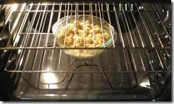 Baking away...